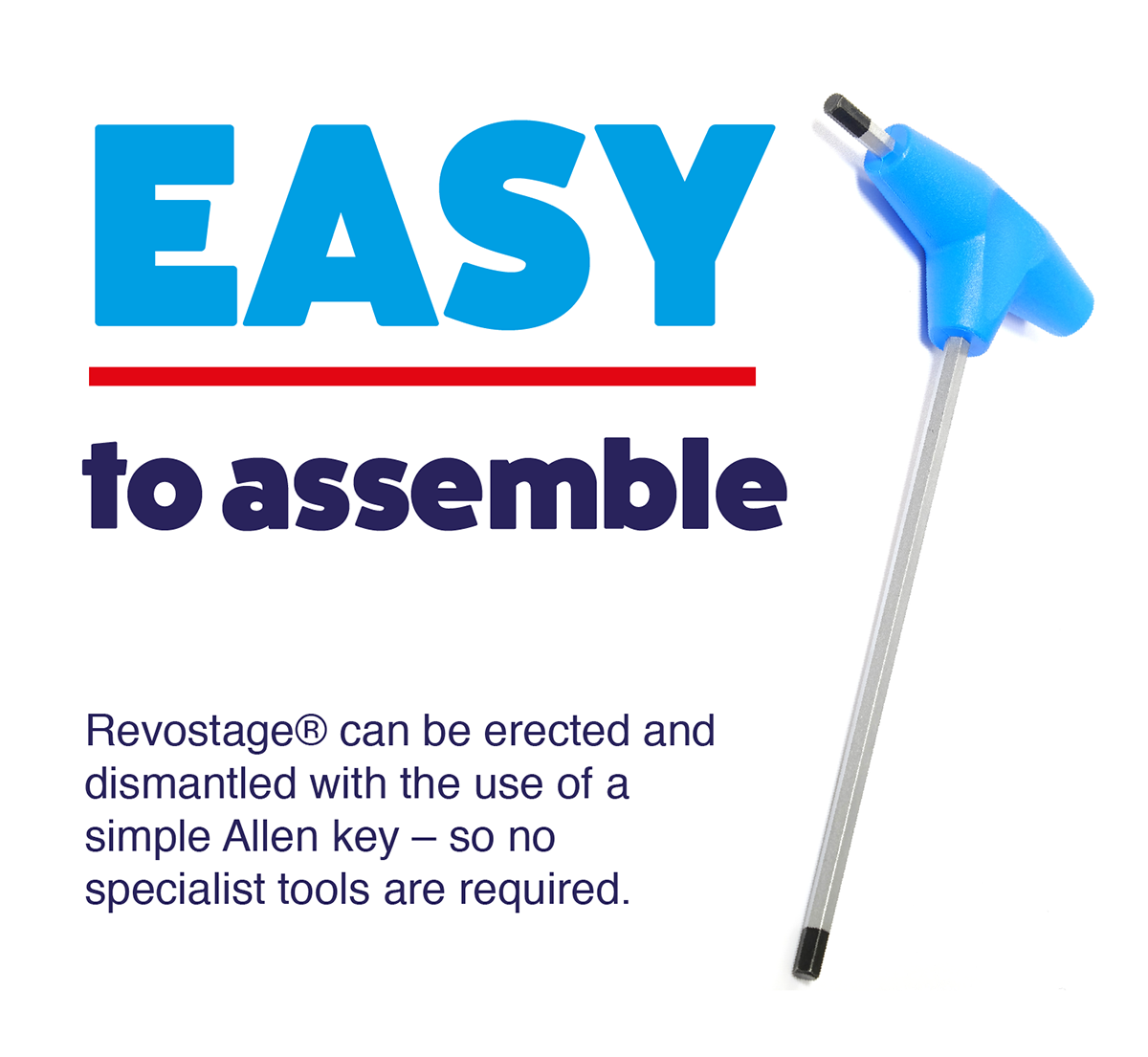 Revostage is easy to assemble